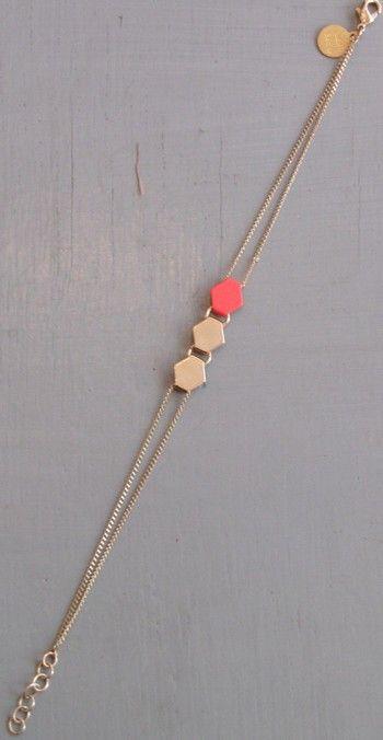 Bracelet Shape  par Judith Benita (aiton doré à l'or fin et laqué)