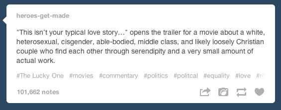 """On """"not your typical love story"""": 