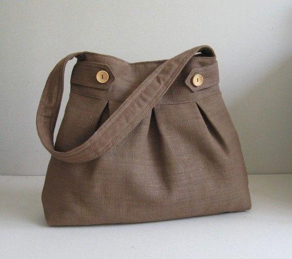 Sale  Brown Hemp/Cotton Bag shoulder bag purse door tippythai