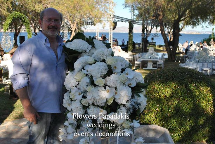 Working with Hydrangea for Wedding Project at Athens Riviera Island