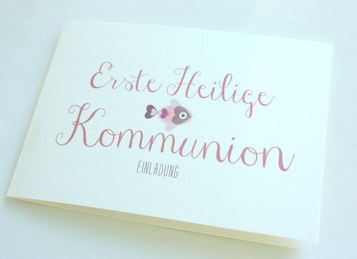 Einladung Zur Konfirmation/Kommunion   HERZ.FISCH2