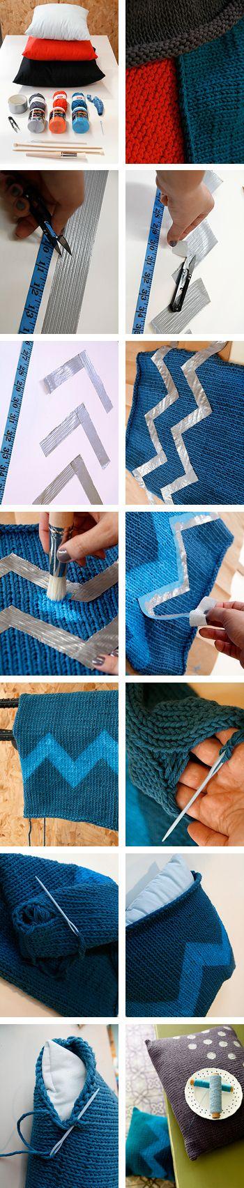 Zelf kussenslopen maken: je kunt het breien als je wilt, er is een makkelijker (en vooral snellere) manier.