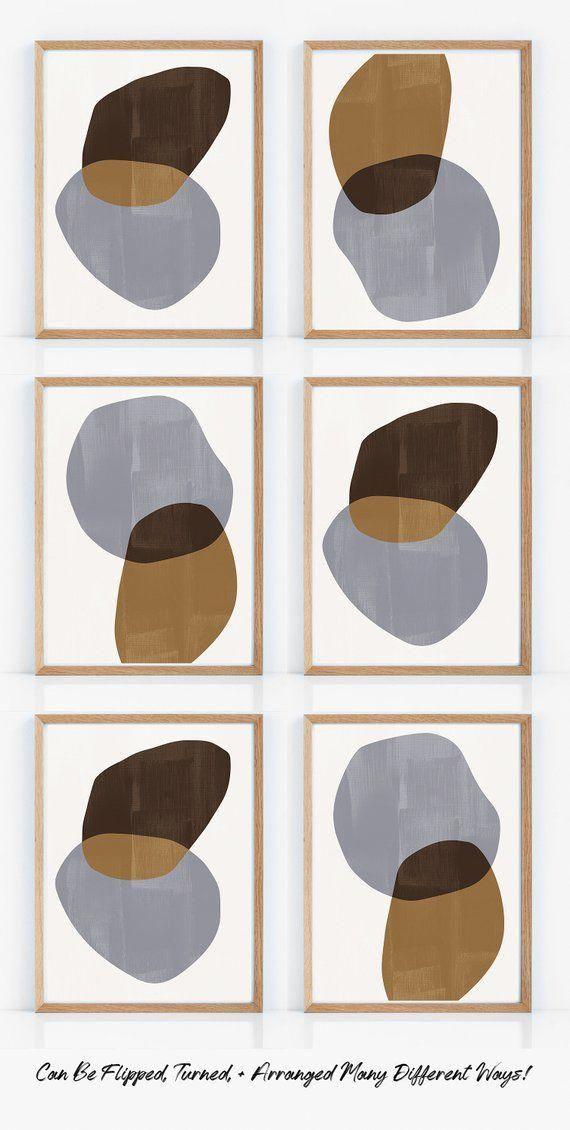 de4a43d86e920 Geometric Mid Century Modern Art Set