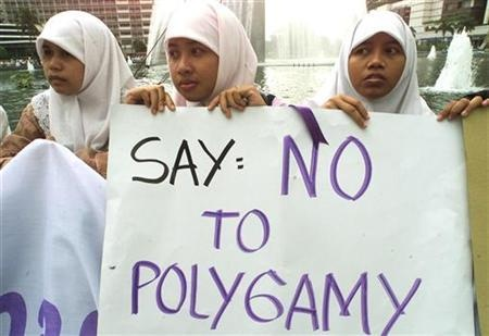 Indonesian women protest polygamy