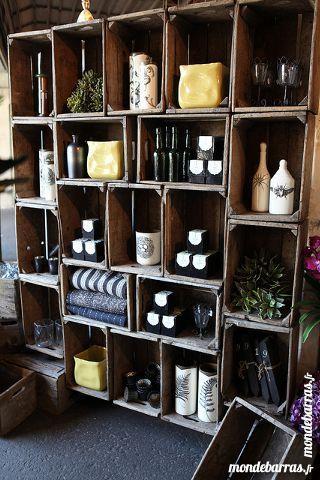 caisse pomme cagette en bois vintage meubles d co pinterest caisse pomme cagette et caisse. Black Bedroom Furniture Sets. Home Design Ideas