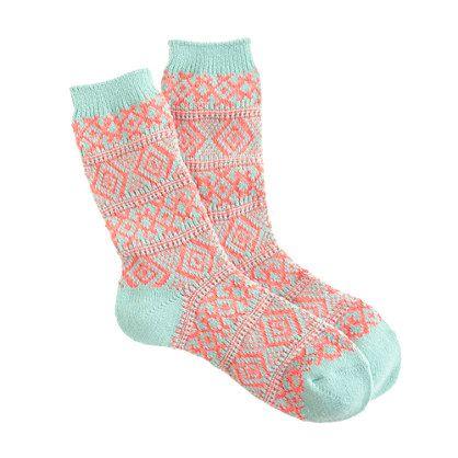 Fair Isle trouser socks - accessories - Women's monogram shop - J.Crew I NEED FOR XMAS