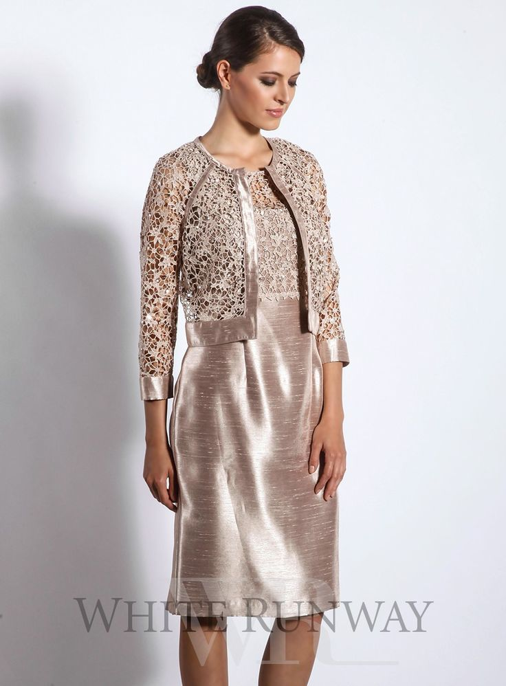 An Elegant Cocktail Dress And Jacket Set By Mr K A Sleeveless Featuring High Neckline With Sequin Lace Bodice Comes Matching