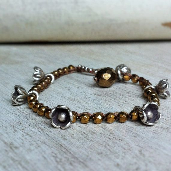 Stackable hematite and fine silver charm by BijouxaLaCarte on Etsy, $48.00