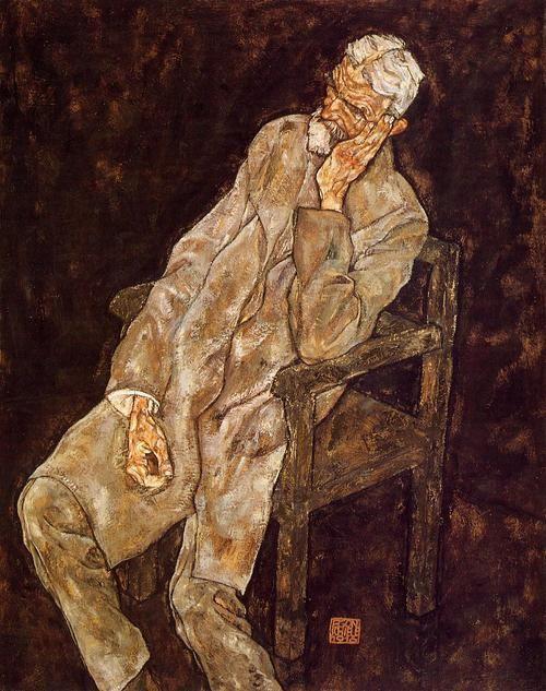 Egon Shiele-Portrait of An Old Man, 1916
