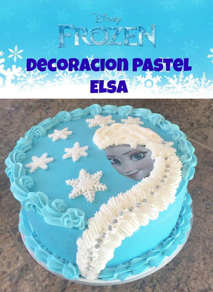 Pastel Frozen De Elsa, Decoración fácil - Madelin's Cakes