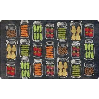 For Indoor Veggie Jars Kitchen Mat 18 X 30 Free Shipping On Runner Rugskitchen Matshome