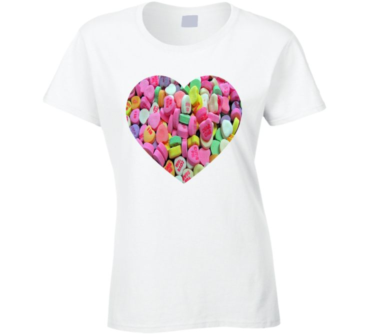 Valentine's Day Heart Candy Lovers Couples Cool Gift T Shirt