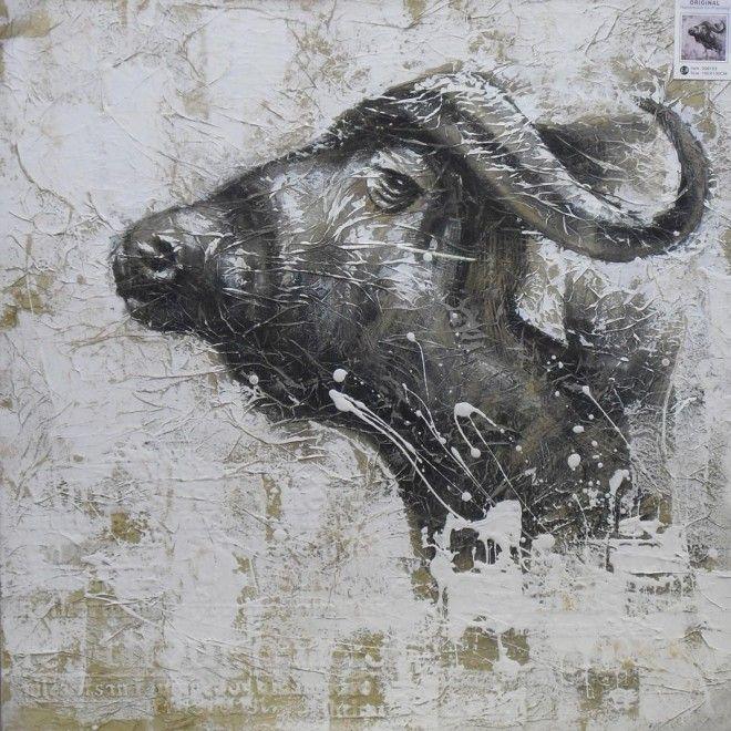 Schilderij van een Gnoe