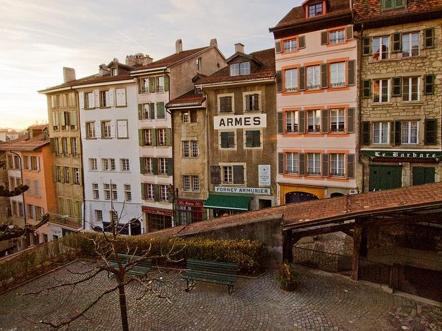 Escaliers du Marche by AlexAnnecy, via Flickr (Lausanne, Switzerland)