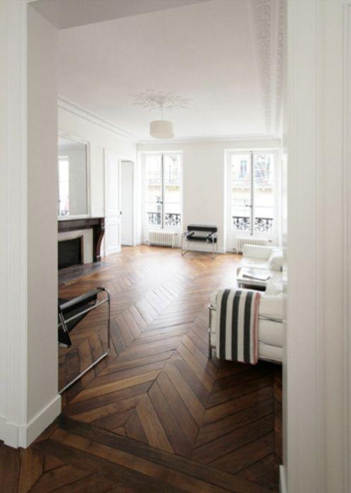 ...still obsessing over herringbone wood floors.