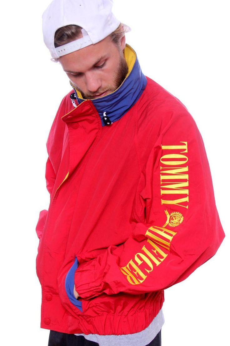 vintage tommy hilfiger sailing gear spellout jacket. Black Bedroom Furniture Sets. Home Design Ideas