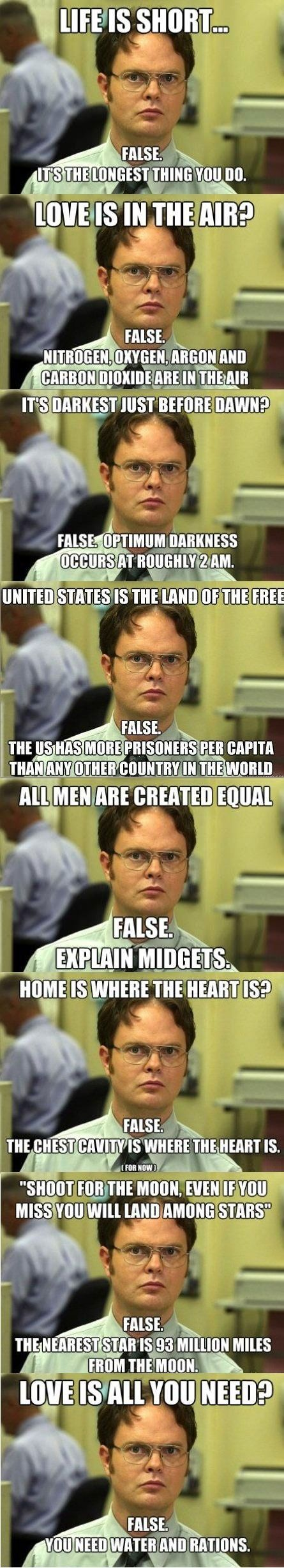 Dwight Schrute's logic
