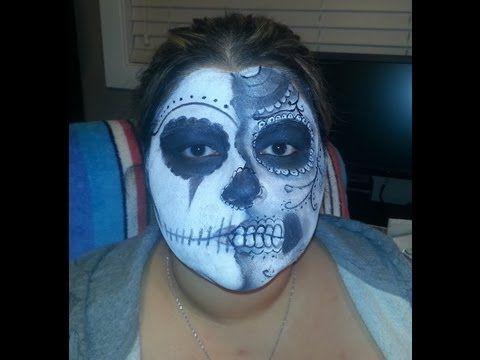 #Halloween Suger Skull Makeup Tutorial