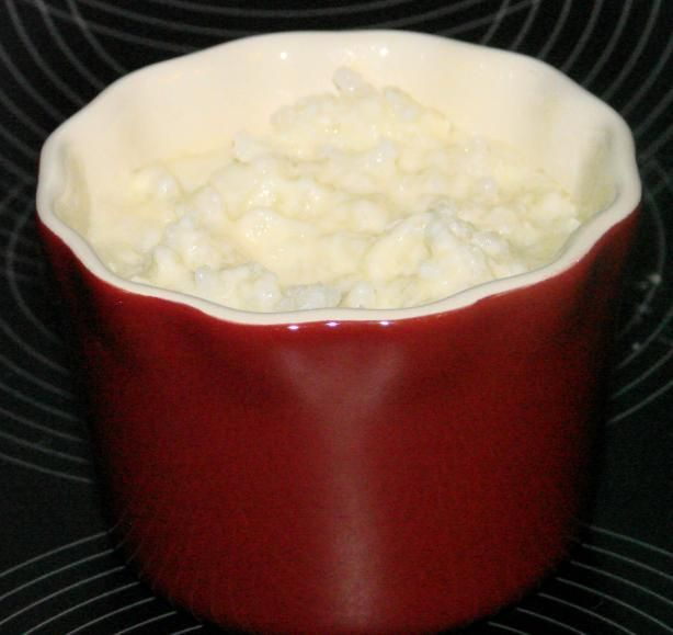 Creamy Rice Pudding (Microwave) from Food.com:   								This is a delicious, creamy version of rice pudding that I got many years ago. It is good warm or chilled. Note: I made this is a 700-watt microwave, newer MWs are stronger and will require less time.