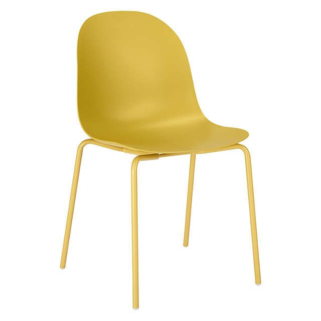 BuyDesign Project by John Lewis No.119 Plastic Chair, Mustard Online at johnlewis.com