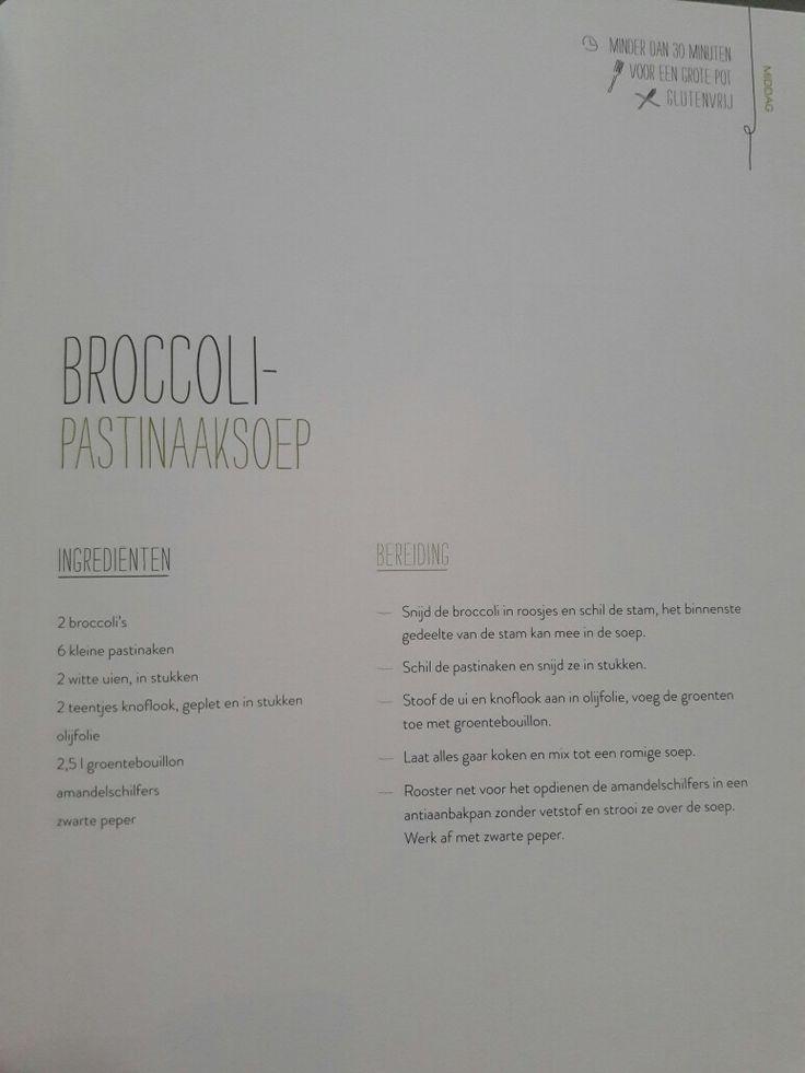 Broccoli- pastinaaksoep - Nooit meer diëten
