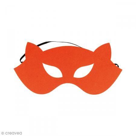 Máscara de fieltro - Zorro naranja - Fotografía n°1