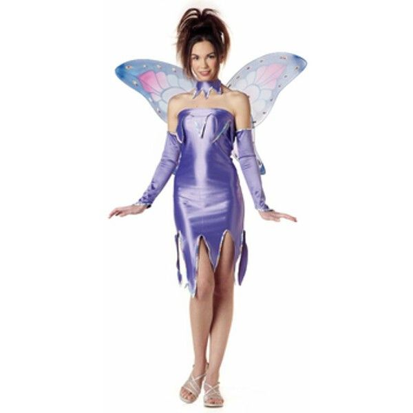 - Poly/Spandex dress with sequin trim - Matching colorful fairy wings - Glovelettes - Choker - Fairy pouch - SKU: CA-007140