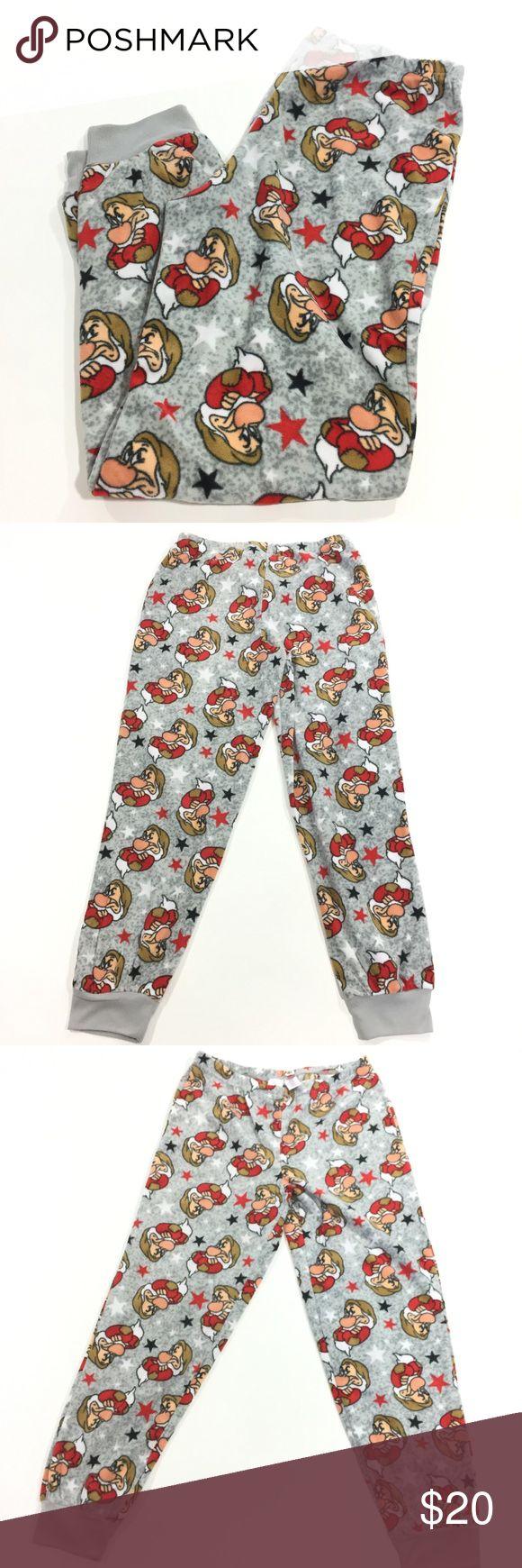 "Disney Size Small Fleece Pajama Pants NWOT ""Grumpy"" Snow White and the Seven Dwarves  Pajama Fleece Pants Gray. Size Small Measurements in Pictures Disney Intimates & Sleepwear Pajamas"