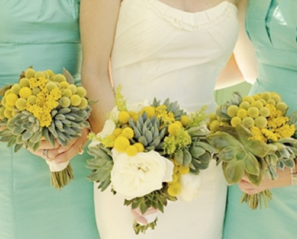 #mint yellow green & yellow wedding ... Wedding ideas for brides, grooms, parents & planners ... https://itunes.apple.com/us/app/the-gold-wedding-planner/id498112599?ls=1=8 … plus how to organise an entire wedding ♥ The Gold Wedding Planner iPhone App ♥ http://pinterest.com/groomsandbrides/boards/