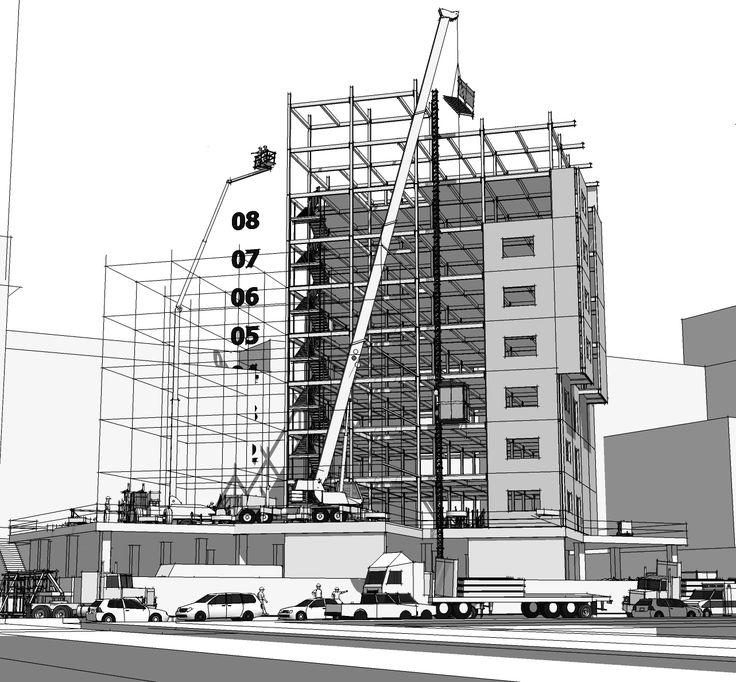 3D Construction Model HD Wallpaper