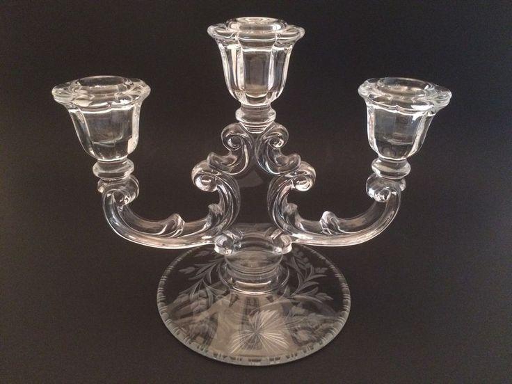 Vintage Glass Art Deco Candle Holder: 78 Best Vintage Glass Candle Holders/Sticks Images On