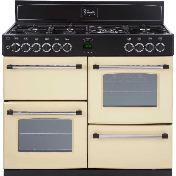 Buy Belling Classic 100GT Cream 100cm Gas Range Cooker (444440923) | Marks Electrical