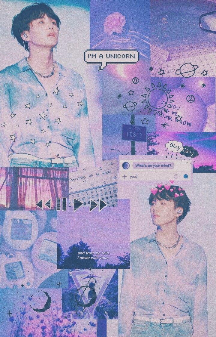 Pinterest Mikhiato Minyoogi Suga Bts Purple Lilac