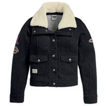 Women's Activewear Jacket with Patches and Sherpa Collar   MotorClothes® Merchandise   Harley-Davidson USA