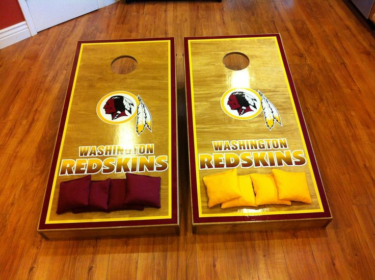 redskins color paint cornhole google search - Cornhole Design Ideas