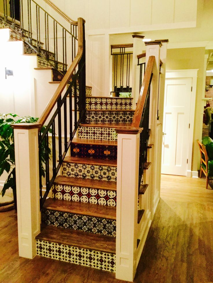 83 best Mexican Tile Stairs images on Pinterest | Mexican ...
