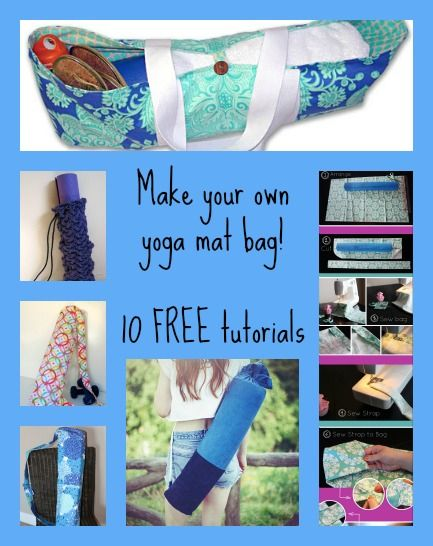 The best 10 free yoga bag patterns around. Buy the perfect mat, then protect it for free with your own bag made to measure and match!
