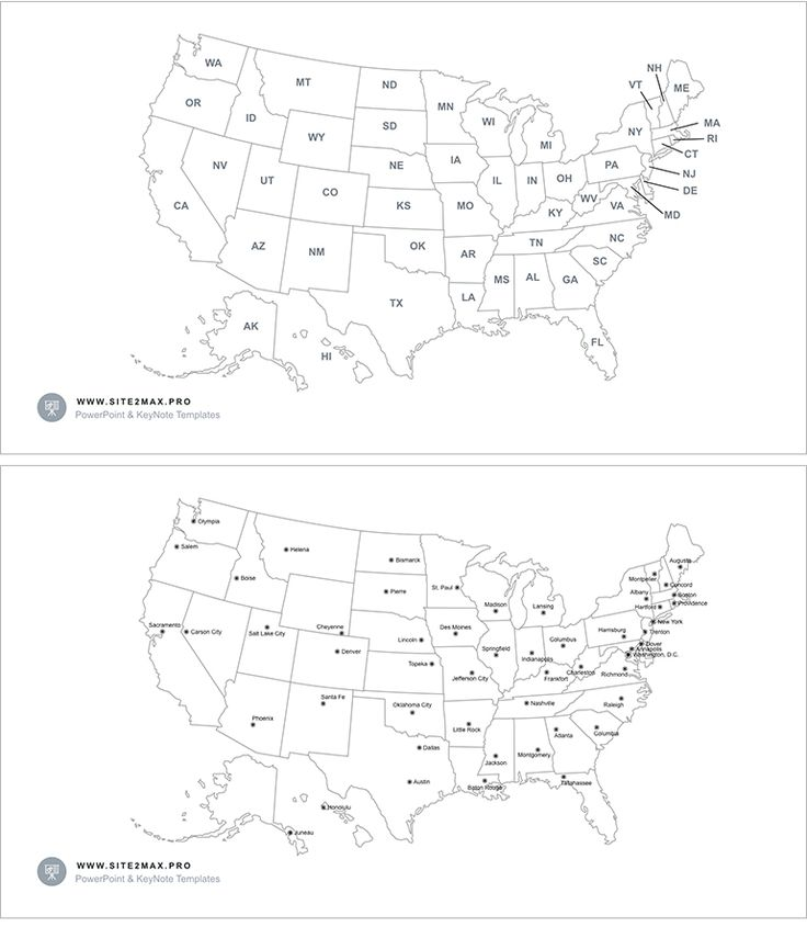 Download: http://site2max.pro/usa-map-keynote/ USA map Keynote #USA #UnitedStates #States #map #shape