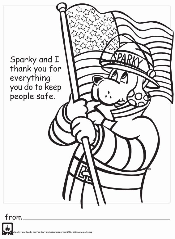 Free Fire Safety Coloring Pages Lovely Free Printable Thank You Firefighters Coloring Sheet In 2020 Fire Safety Free Fire Safety Coloring Pages