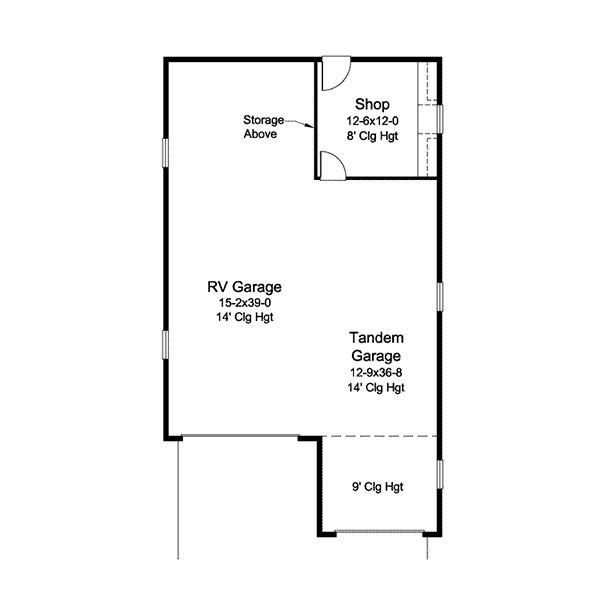 Best 25 tandem garage ideas on pinterest modern house for 4 car tandem garage house plans