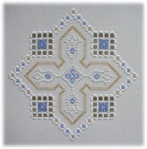 Berrington Hall (I) Hardanger embroidery