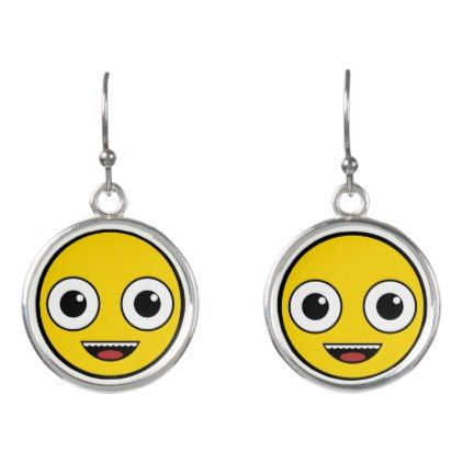 Super Happy Face Earrings - jewelry jewellery unique special diy gift present