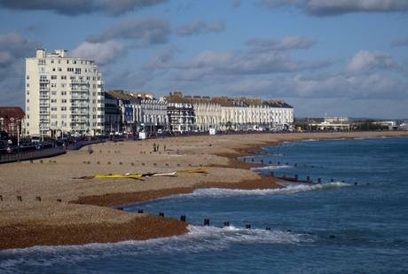 It's the Thursday after Easter weekend and British Summer Time has begun – but gazing down the promenade at Eastbourne, you really wouldn't think it.