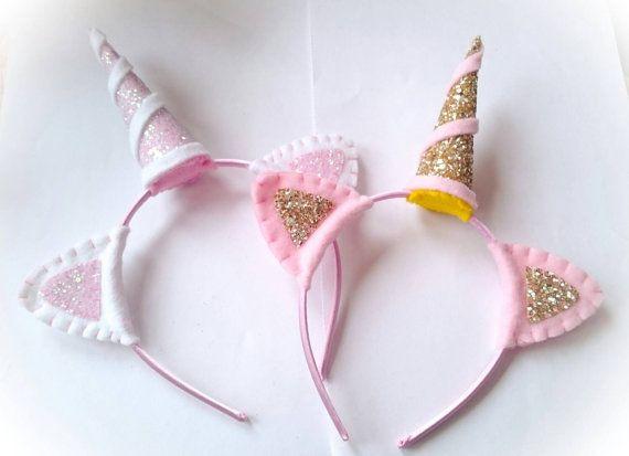 Einhorn-Stirnband Einhorn Kostüm Filz oder von KittysKreations2013