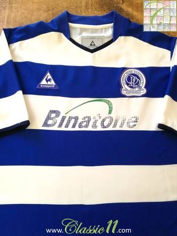 Official Le Coq Sportif Queens Park Rangers home football shirt from the 2003/04 season.
