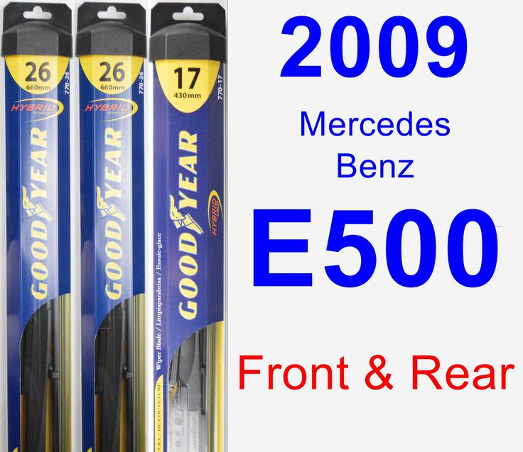 Front Rear Wiper Blade Pack For 2009 Mercedes Benz E500