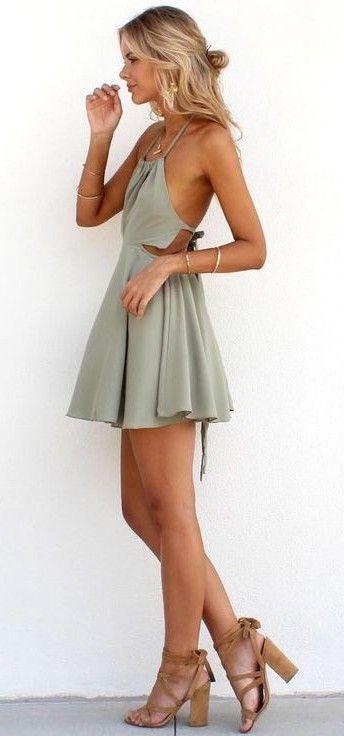 Olive Shalter Halter Dress | SaboSkirt Love it! checkout www.sweetpeadeals.com for dresses up to 80% OFF!