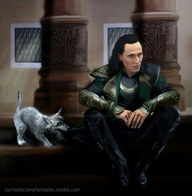 Loki and Fenrir. | Loki Only Fanarts | Pinterest | Loki ...