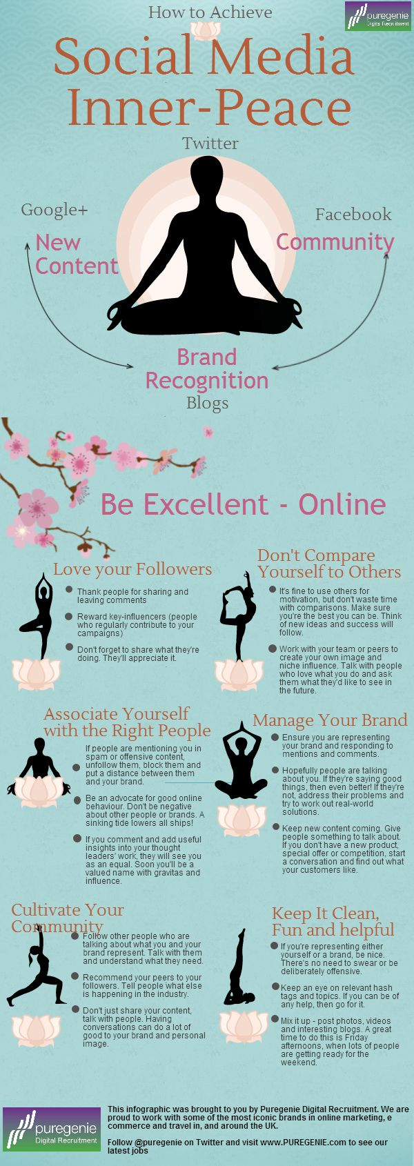 Nice one: How to Achieve Social Media Inner-Peace #infographic