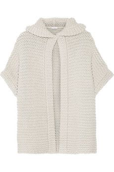 Brunello Cucinelli Chunky-knit cashmere and silk-blend hooded cardigan | NET-A-PORTER